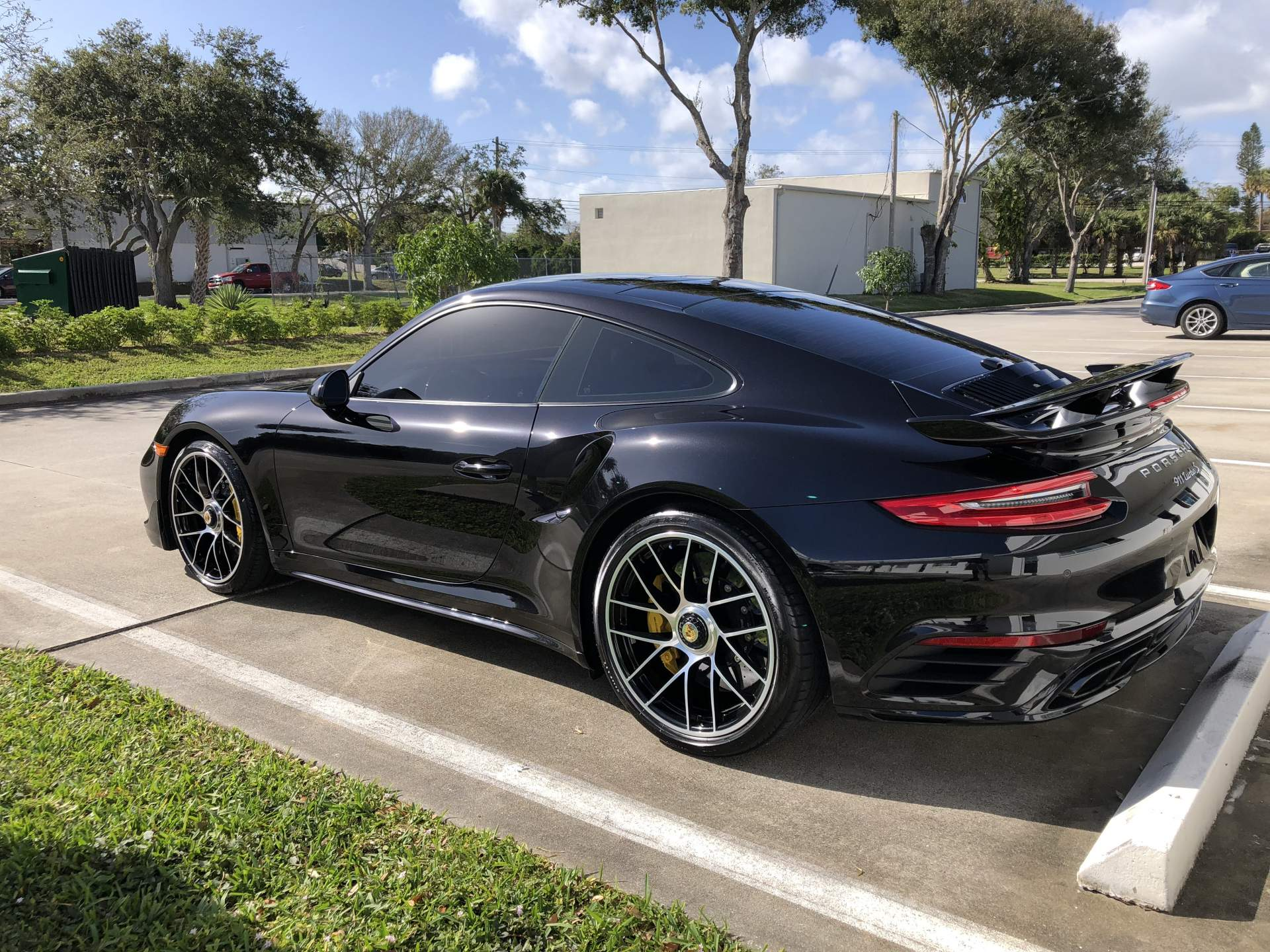 Black Porsche from the side